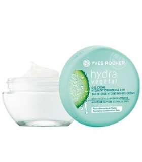 ژل کرم مرطوب کننده 24 ساعته ایو روشه مدل هیدرا وجتال Yves Rocher Hydra Vegetal 24H Rich Hydrating Gel Cream