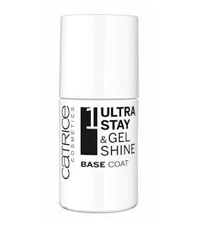 لاک ناخن کاتریس مدل اولترا استی Ultra Stay And Gel Shine Base Coat Catrice