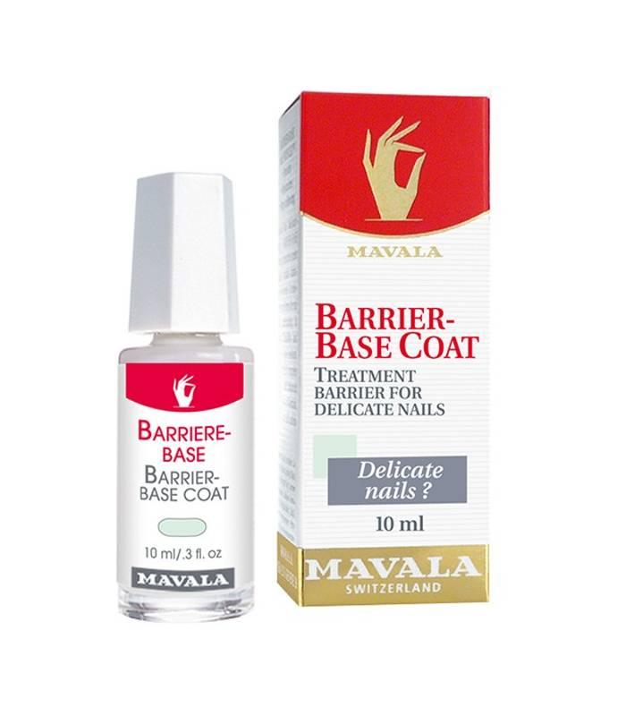 محلول محافظ ناخن های حساس و آسیب دیده ماوالا مدل باریربیس Mavala Barrier Base Cleanser And Oil Nail 10ml  