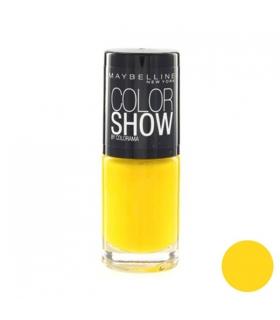 لاک ناخن میبلین مدل ووآ کالر شو الکتریک یلو Maybelline Vao Color Show Electric Yellow Nail Polish 749