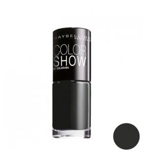 لاک ناخن میبلین مدل ووآ کالر شو بلک اوت Maybelline Vao Color Show Blackout Nail Polish 677