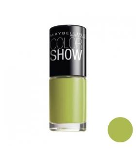 لاک ناخن میبلین مدل ووآ کالر شو پو گرین Maybelline Vao Color Show Pow Green Nail Polish 754