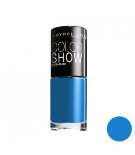لاک ناخن میبلین مدل ووآ کالر شو سوپر پاور بلو Maybelline Vao Color Show Superpower Blue Nail Polish 654