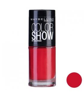 لاک ناخن میبلین مدل ووآ کالر شو پاور رد Maybelline Vao Color Show Power Red Nail Polish 349