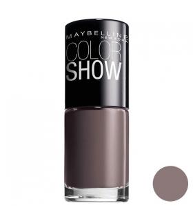 لاک ناخن میبلین مدل ووآ کالر شو میدنایت تاپ Maybelline Vao Color Show Midnight Taupe Nail Polish 549