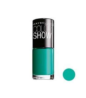 لاک ناخن میبلین مدل Maybelline Vao Color Show Urban Turquoise Nail Polish 120