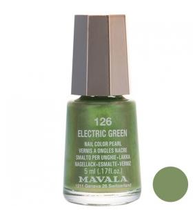 لاک ناخن ماوالا مدل مینی الکتریک گرین شماره 126 Mavala Mini Electric Green Nail Polish 126