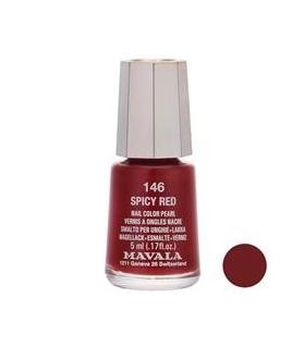 لاک ناخن ماوالا مدل مینی اسپایسی رد شماره 146 Mavala Mini Spicy Red Nail Polish 146