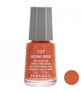 لاک ناخن ماوالا مدل مینی وولکانیک اورنج شماره 127 Mavala Mini Volcanic Orange Nail Polish 127