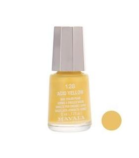 لاک ناخن ماوالا مدل مینی اسید یلو شماره 128 Mavala Mini Acid Yellow Nail Polish 128