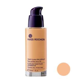 کرم پودر ایو روشه مدل Yves Rocher Flawless Finish Fluid Rose 100 Foundation 30ml 100