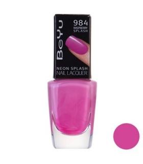 لاک ناخن بی یو مدل نئون اسپلش 984 BeYu Neon Splash Nail Polish 984