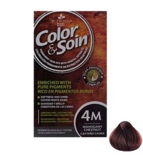 کیت رنگ مو کالر اند سوان سری قرمز شماره 4 ام Color-And-Soin-Red-4M