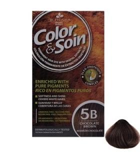 کیت رنگ مو کالر اند سوان سری قهوه ای شماره 5 بی Color-And-Soin-Brown-5B