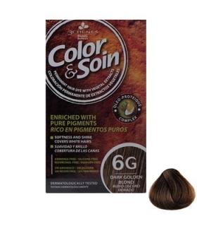 کیت رنگ مو کالر اند سوان سری طلایی شماره 6 جی Color-And-Soin-Gold-6G