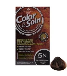 کیت رنگ مو کالر اند سوان سری قهوه ای شماره 5 ان Color-And-Soin-Brown-5N