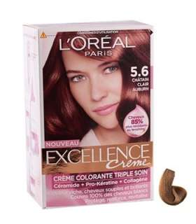 کیت رنگ مو لورآل شماره 5.6اکسلنس LOreal Excellence No 5.6 Hair Color Kit