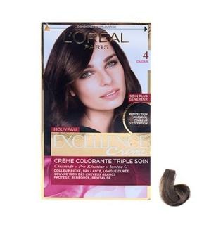 کیت رنگ مو لورآل شماره 4 اکسلنس LOreal Excellence No 4 Hair Color Kit