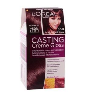 کیت رنگ مو لورآل شماره 550 کستینگ کرم گلاس LOreal Casting Creme Gloss Hair Color Kit 550