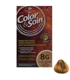 کیت رنگ مو کالر اند سوان سری طلایی شماره 8 جی Color And Soin Gold 8G