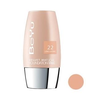 کرم پودر مخملی مات بی یو مدل 22 BeYu Velvet Mat Foundation 22
