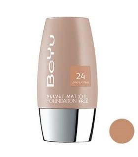 کرم پودر مخملی مات بی یو مدل 24 BeYu Velvet Mat Foundation 24