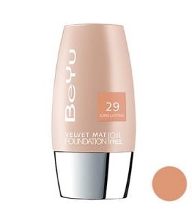 کرم پودر مخملی مات بی یو مدل 29 BeYu Velvet Mat Foundation 29