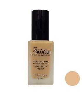 کرم پودر مدیسان SPF40 بژ روشن مناسب انواع پوست Medisun For All Skin SPF40 Foundation Light Beige