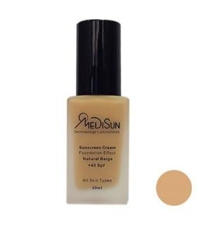 کرم پودر مدیسان SPF40 بژ طبیعی مناسب انواع پوست Medisun For All Skin SPF40 Foundation Natural Beige