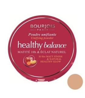 پنکیک بژ تیره بورژوآ مدل هلتی بالانس پودر 55 Bourjois Healthy Balance Powder Beige Fonce 55