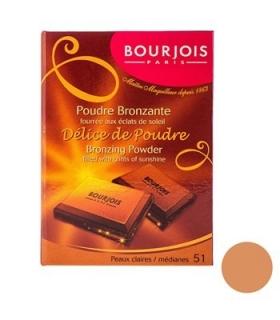 پودر برنزه بورژوآ مدل دلیس د پودر شماره 51 Bourjois Delice De Poudre Bronzing Powder 51