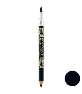 مداد چشم برس دار بورژوآ مدل افکت اسموکی اولترا بلک شماره 76 Bourjois Effet Smoky Ultra Black Eye Pencil 76