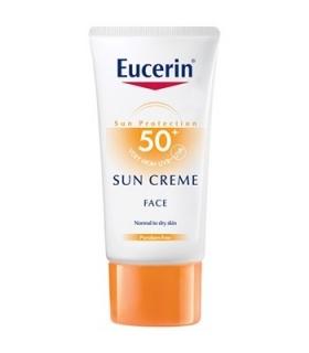 کرم ضد آفتاب اوسرین مدل +SPF50 مخصوص پوست خشک Eucerin Sunscreen Cream SPF 50+ For Dry Skin