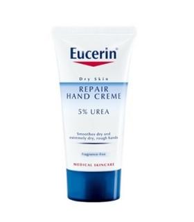 کرم ترمیم کننده دست اوسرین مدل 5% اوره Eucerin Repair Hand 5Percent Urea Cream