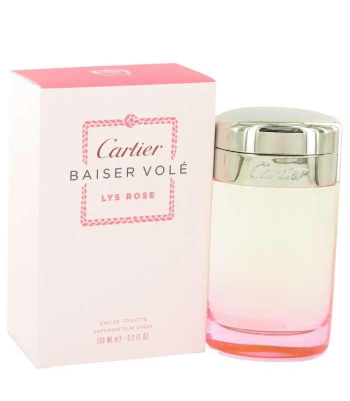 2d8ab7e2b عطر زنانه شیرین کارتیر بیسر وله لیز رز Cartier Baiser Vole Lys Rose