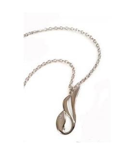 گردنبند دستساز نقره مدل رقص ماهی کد S136