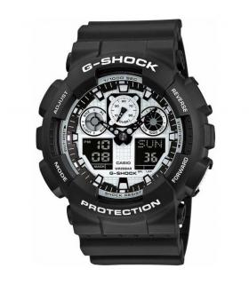 ساعت مچی عقربه ای مردانه کاسیو جی شاک Casio G Shock GA 100BW 1ADR