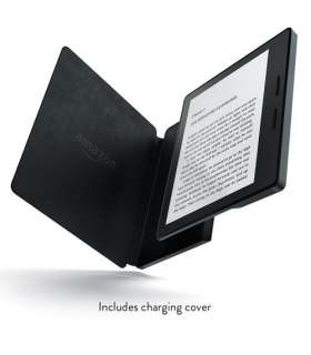 کتابخوان آمازون مدل نیو کیندل اوسیس با کاور شارژر چرمی New - Kindle Oasis E-reader with Leather Charging Cover - Black
