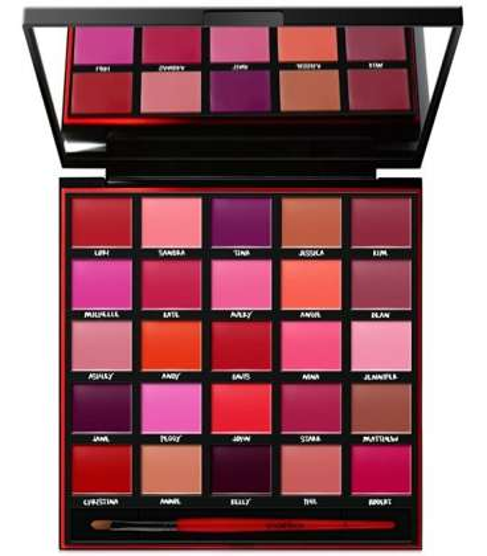 پالت رنگ اسمش باکس با 25 رنگ سایه Smashbox Be Legendary Lipstick Palette Includes 25 of the best Smashbox shades