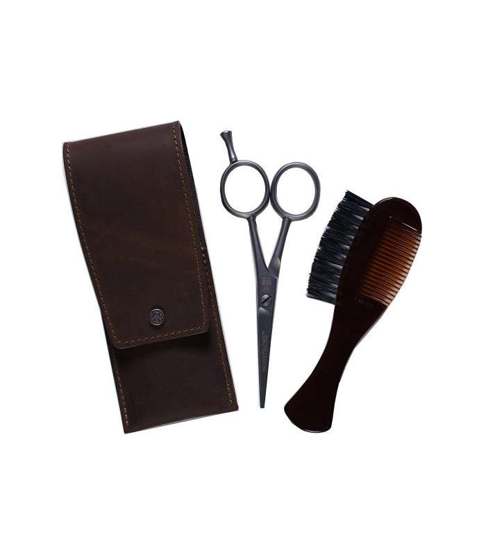قیچی و شانه سبیل Dovo Beard and Moustache Scissor Set - Comb/Brush Custom |