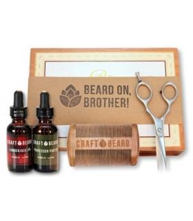 قیچی و کیت نظافت ریش و سبیل مردان Premium Mens Beard Grooming Kit by Craft Beard