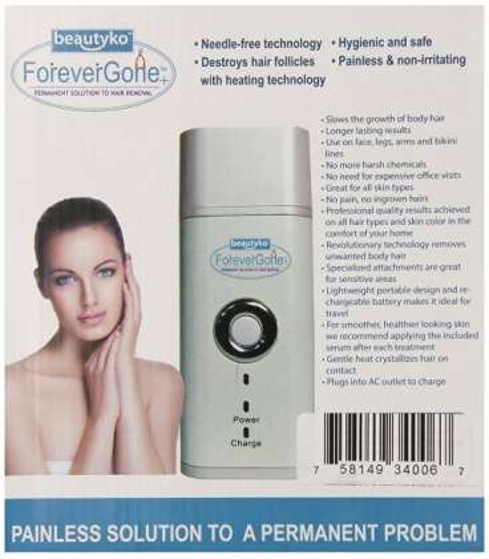 لیزر بدن فوراور گان برای پوست های لطیف Forever Gone Sivan Bladeless Hair Remover Set for Smooth Skin |