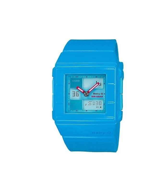 ساعت مچی دیجیتالی پهن دخترانه رنگ آبی مارک کاسیو