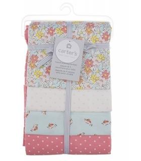 خشک کن کارترز مدل گل و پرنده Carters Flower and Bird Drying Towel