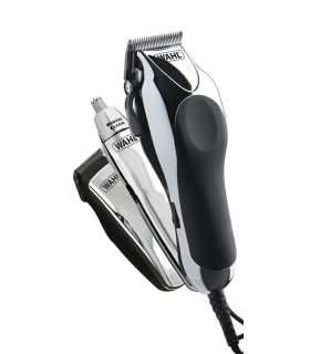 ست ماشین اصلاح وال مدل Wahl Chrome Pro Deluxe Mains Hair Clipper, Trimmer & Nasal Trimmer Set Chrome 79524-810 Gift Set
