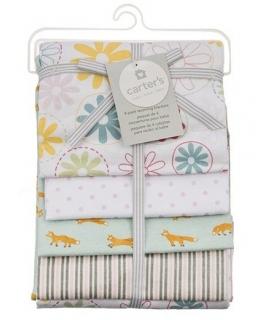 خشک کن کارترز مدل گل و روباه Carters Flower and Fox Drying Towel