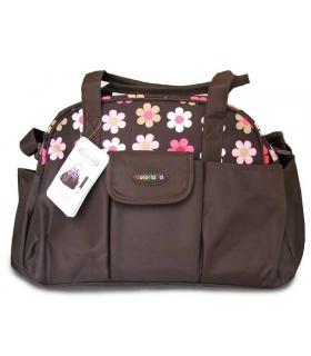ساک لوازم کودک کالرلند قهوه ای گلدار Colorland 1170 diaper bag