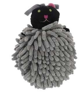 لیف حمام عروسکی مدل گربه طوسی Grey Cat Bath Fiber