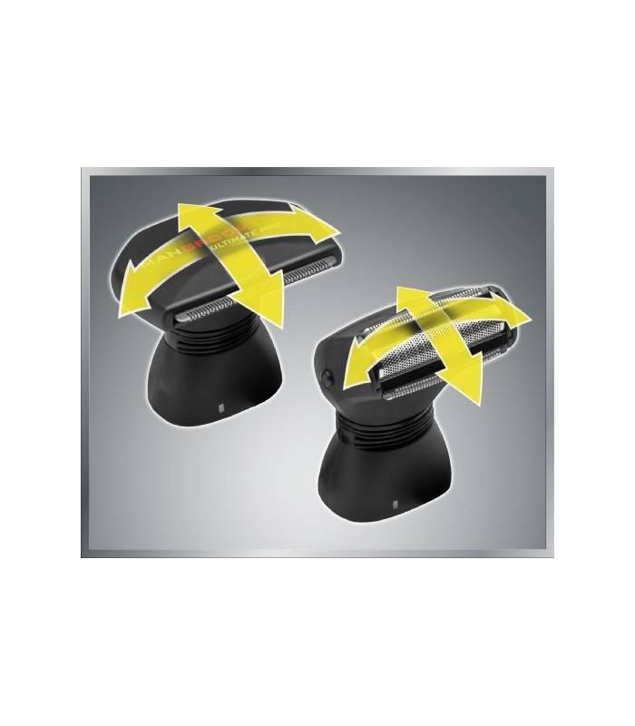 ماشین اصلاح موی بدن مردان من گرومر مدل mangroomer ultimate pro back shaver with 2 shock absorber flex heads