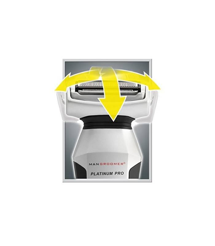 ماشین اصلاح بدن مردان من گرومر دو طرفه mangroomer platinum pro body groomer with shock absorber flex neck